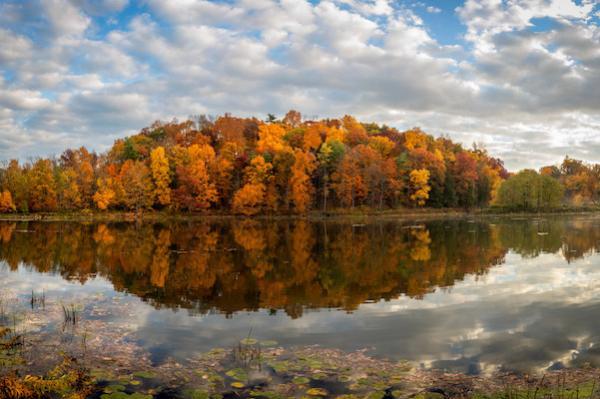 Beebe Lake in fall
