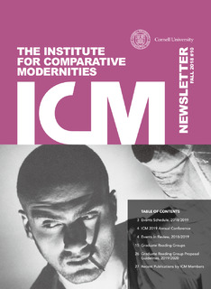 cover of ICM newsletter 2018