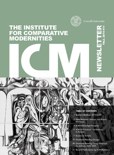 cover of ICM newsletter Fall 2019