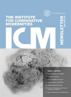 ICM newsletter Fall 2017